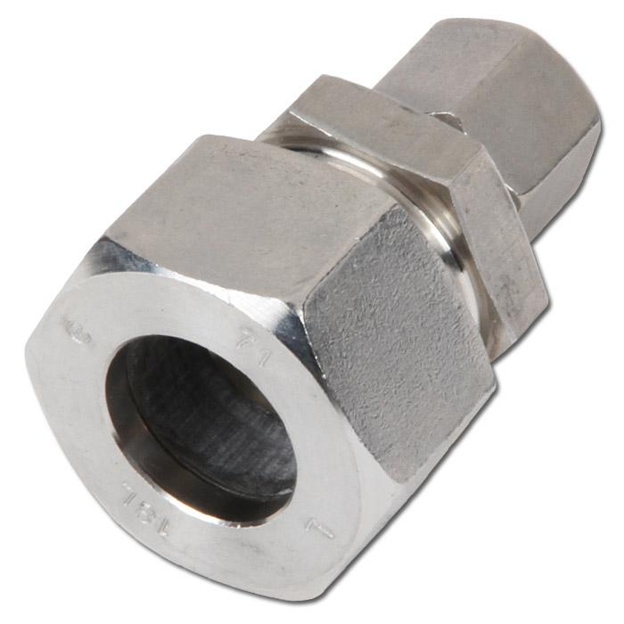 Raccord r ducteur droit bague coupante acier inoxydable s rie l pour tube ext 8 42 mm - Reducteur de bague ...