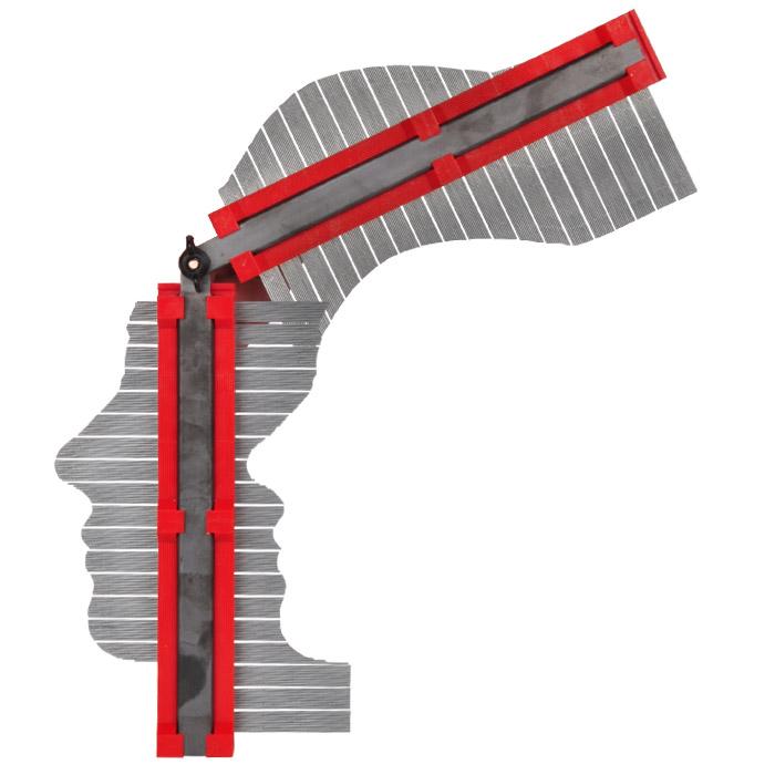 Copieur de profil contour prise par aiguilles en acier - Copieur de profil ...